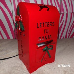santas mailbox shade & frosted white glimmer light